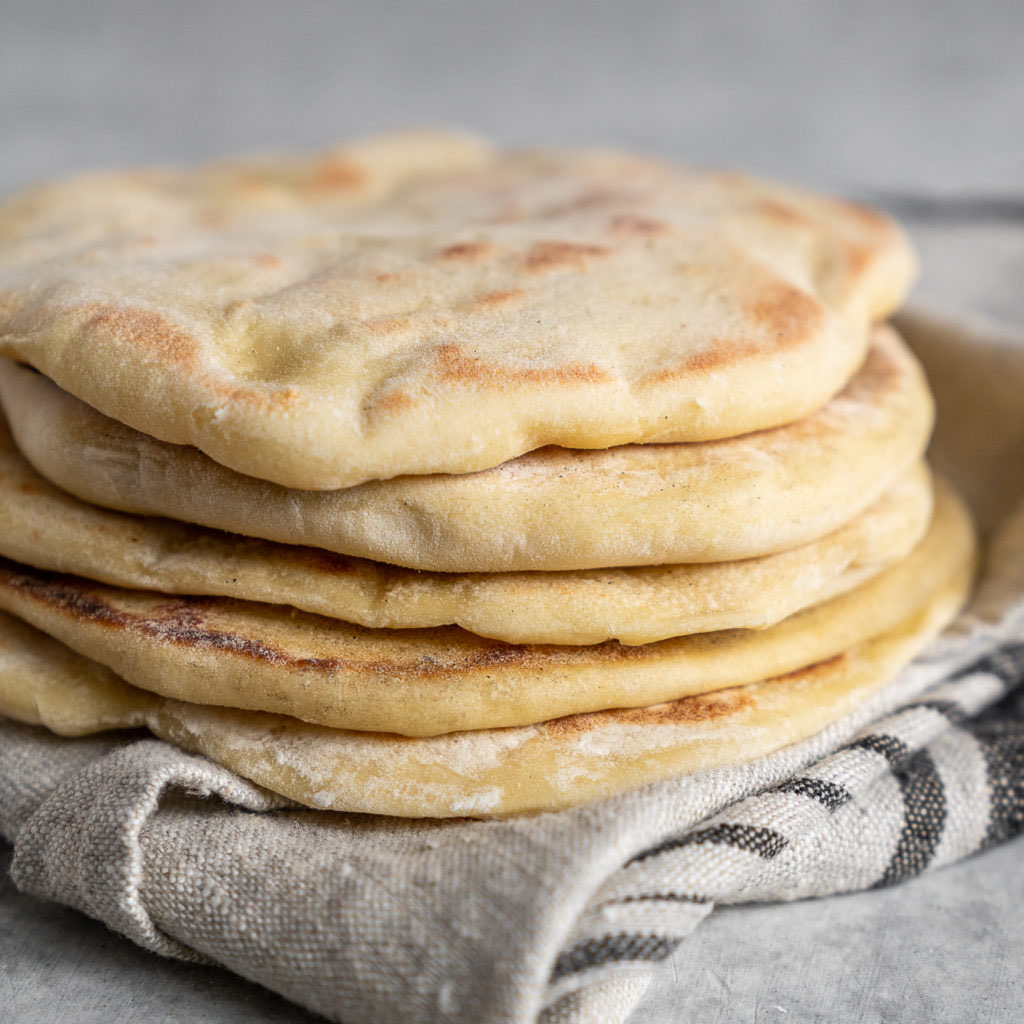 Homemade Pita Bread Directions Calories Nutrition More Fooducate