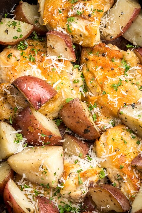 Garlic Parmesan Chicken Thighs Directions Calories Nutrition More Fooducate