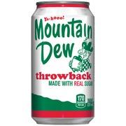 mountain dew soda throwback calories nutrition analysis more