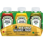 Heinz Tailgate Pack,Ketchup Tomato/Mustard Yellow/Relish Sweet: Calories, Nutrition Analysis ...