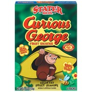 Stater Bros. Fruit Snacks,Curious George Assorted Fruit 6 ...