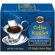 Lowes Foods Coffee Bagssingle Serve Calories Nutrition Analysis