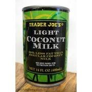 Trader Joe S Light Coconut Milk Calories Nutrition