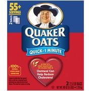 Quaker Oats,Quick 1 Minute 2 Ct: Calories, Nutrition ...