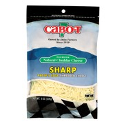 sharp white cheddar. cabot vermont sharp white cheddar shred