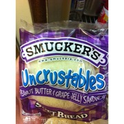 Smucker's Uncrustables Peanut Butter And Grape Jelly Sandwich Soft Bread: Calories, Nutrition ...