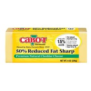 sharp white cheddar. cabot vermont 50% reduced fat sharp white cheddar t