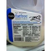 Publix grade a fat free milk nutrition grade b plus 90 calories per