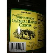 Trader Joe's Oatmeal Raisin Cookies - Crispy Crunchy: Calories, Nutrition Analysis & More ...