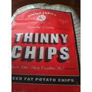 jimmy john s crunchy and salty thinny chips reduced fat potato chips