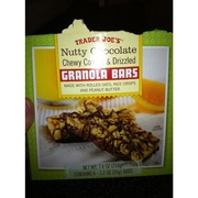 Trader Joe's Nutty Chocolate Chewy Coated & Drizzled Granola Bars: Calories, Nutrition Analysis ...