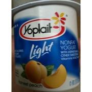 Photo of Yoplait Light Yogurt, Light, Non-Fat, Harvest Peach
