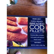 Trader joe 39 s oven ready breaded cod fillets calories for Cod fish nutrition