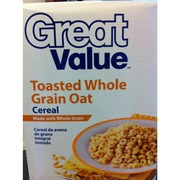 Great Value Toasted Whole Grain Oat Cereal: Calories, Nutrition ...