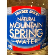 Trader Joe S Natural Mountain Spring Water