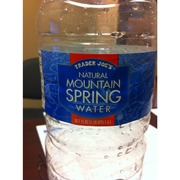 Trader Joe S Natural Mountain Spring Water Analysis
