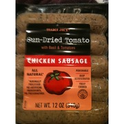 Trader Joe's Sun Dried Tomato Chicken Sausage with Basil..