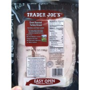 Trader Joe S Oven Roasted Turkey Breast Calories Nutrition Analysis More Fooducate