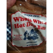 trader joe 39 s whole wheat hot dog buns calories nutrition analysis more fooducate. Black Bedroom Furniture Sets. Home Design Ideas