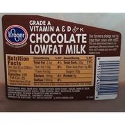 Kroger Chocolate Milk, Lowfat: Calories