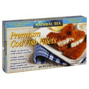 Natural sea premium cod fish fillets calories nutrition for Cod fish nutrition