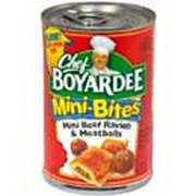 Chef Boyardee Mini Beef Ravioli & Meatballs: Calories ...