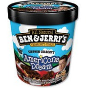 Ben Jerry S Ice Cream Stephen Colbert S Americone Dream Calories Nutrition Analysis More Fooducate Pint slices have the outward appearance of klondike bars, though they're stuffed with one of four delicious ben and jerry's flavors. fooducate
