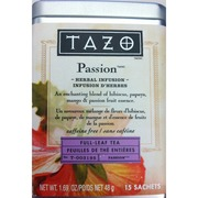 TAZO Passion, Herbal Tea: Calories