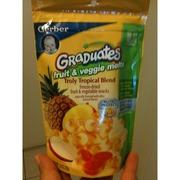 Gerber Graduates Freeze-Dried Fruit & Vegetable Snacks, Truly Tropical Blend