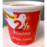 Friendship Cottage Cheese, Lowfat, Large Curd, Pot Style ...