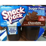 Snack Pack Sugar Free Pudding, Chocolate: Calories ...