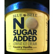 Blue Bell No Sugar Added Ice Cream: Calories, Nutrition Analysis & More | Fooducate