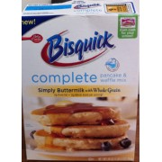 Bisquick Pancake Waffle Mix Simply Buttermilk with Whole Grain