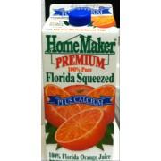 HomeMaker 100% Florida Orange Juice: Calories, Nutrition Analysis ...