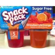 Snack Pack Gelatin, Strawberry & Orange, Sugar Free: Calories, Nutrition Analysis & More | Fooducate
