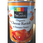 365 Everyday Value Organic Cheese Ravioli in Tomato Sauce, Organic: Calories, Nutrition Analysis ...