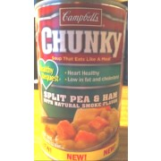 Campbell's Chunky, Healthy Request, Split Pea & Ham with Natural Smoke Flavor Soup: Calories ...