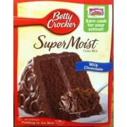 Betty Crocker Milk Chocolate Cake Mix Calories