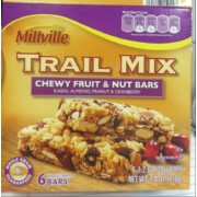 Millville Chewy Fruit & Nut Bars, Trail Mix: Calories, Nutrition ...