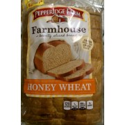 Pepperidge Farm Farmhouse Hearty Sliced Bread, Honey Wheat: Calories ...