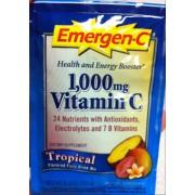 Emergen-C 1,000 mg Vitamin C, Tropical: Calories ...