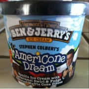 Ben Jerry S Stephen Colbert S Americone Dream Calories Nutrition Analysis More Fooducate ♥︎ review ben & jerry's americone dream® vanilla ice cream with fudge covered waffle cone pieces & a caramel swirl beschreibung: ben jerry s stephen colbert s americone dream