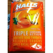 halls triple soothing action tropical fruit calories nutrition analysis more fooducate. Black Bedroom Furniture Sets. Home Design Ideas