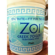 Zoi Greek Yogurt, Plain: Calories, Nutrition Analysis ...