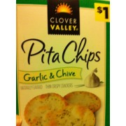 Clover Valley Pita Chips, Garlic & Chive, Crispy Crackers ...