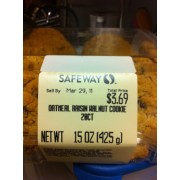 Safeway Cookies Oatmeal Raisin Walnut Calories
