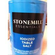 Stonemill Essentials Iodized Table Salt: Calories ...