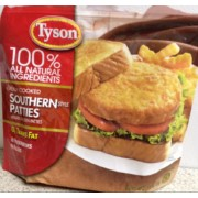 Tyson Chicken Patties, Breaded