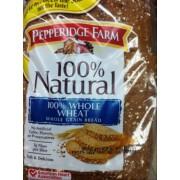... of Pepperidge Farm 100% Natural, Whole Grain Bread, 100% Whole Wheat