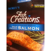 Morey 39 s fish creations wild pacific salmon garlic cracked for Morey s fish